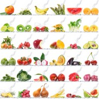 Frutas naturales congeladas